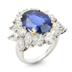 Kashmir Blue Sapphire Ring
